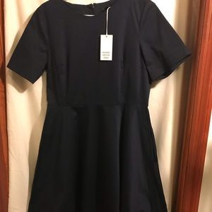 COS Cotton navy dress size 12
